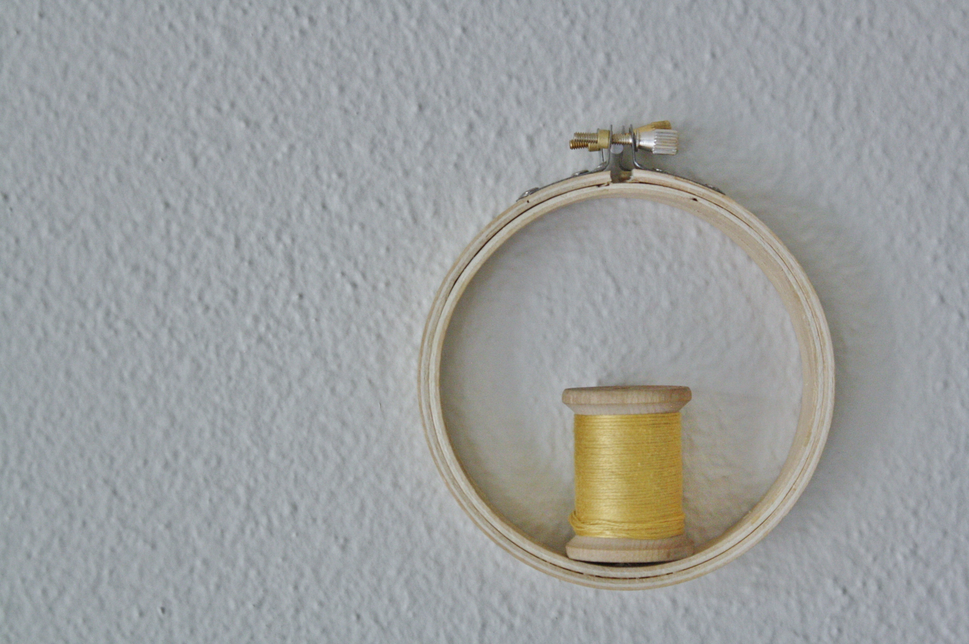 embroidery hoop shelf