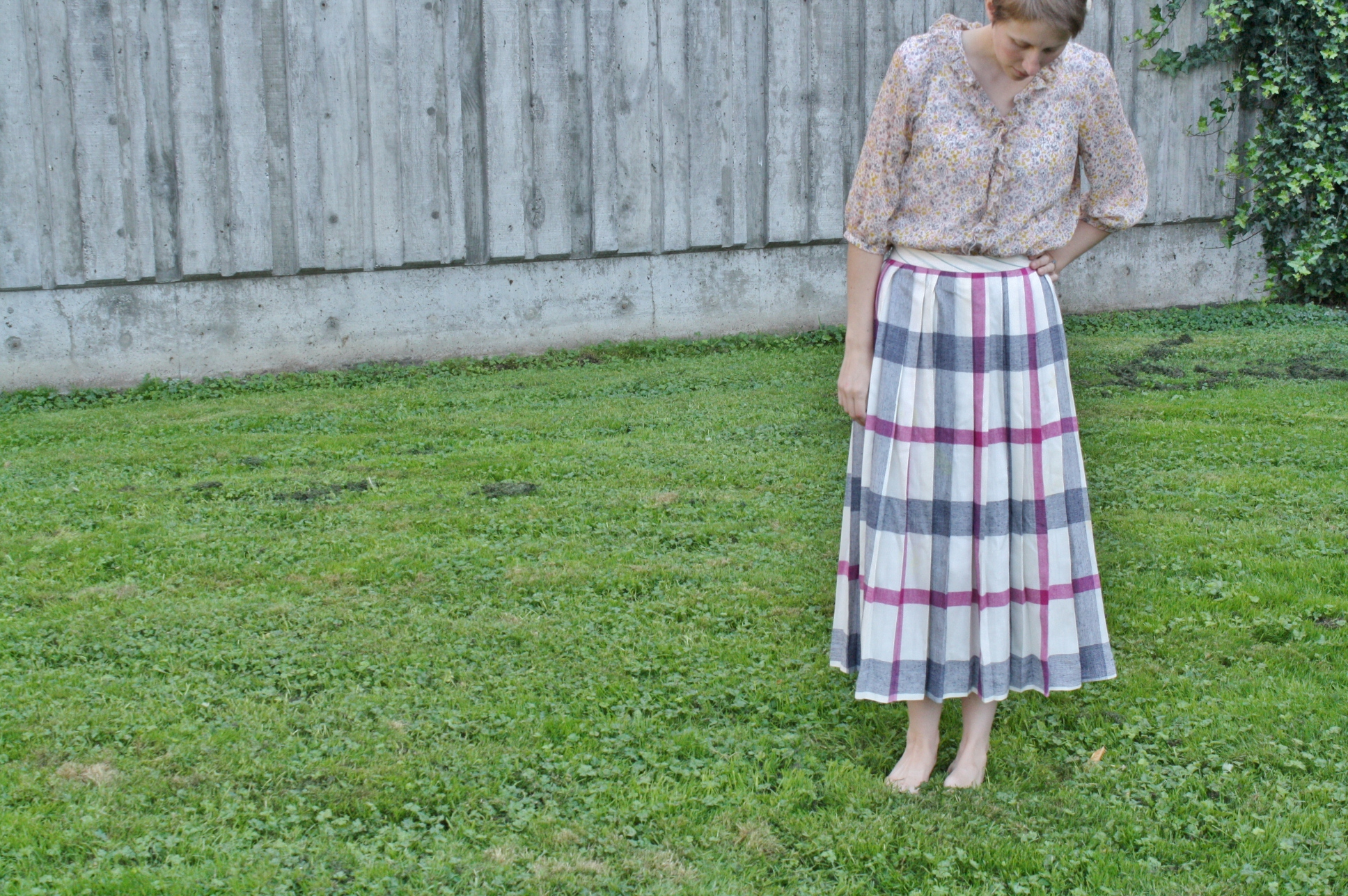 up-sizing a pleated skirt
