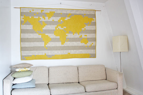 WORLD MAP QUILT – yellow spool