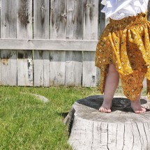 bandana dress \\ yellow spool