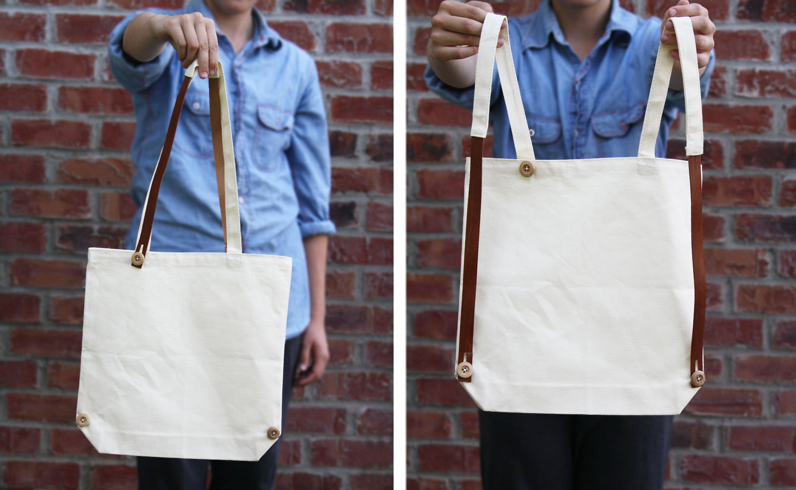interchanging tote/ backpack tutorial // yellow spool