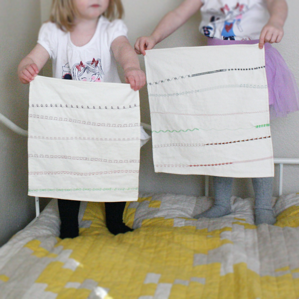 """their first """"quilts"""""""