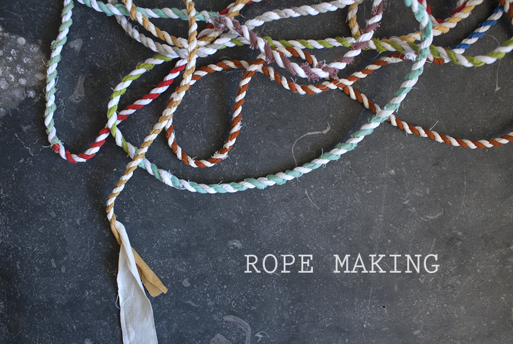 rope making | yellow spool